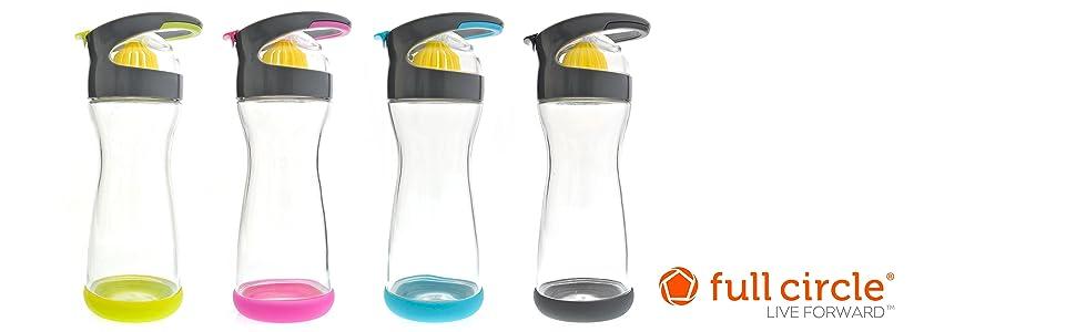 Full Circle, Wherever Water, Water Bottle, Lemon Infuser, Infuser Bottle, Infusing Bottle