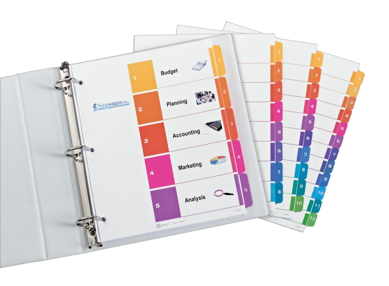 image regarding Printable Binder Tabs named : Avery Mini Tab Dividers, Print Put into practice Crystal clear
