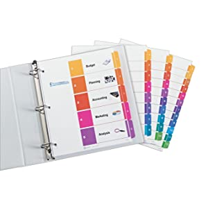 Professional, ready, index, dividers, organization, customizable, free, avery.com, tab, print