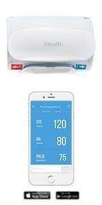 blood pressure monitor, upper arm cuff blood pressure monitor, bluetooth blood pressure monitor