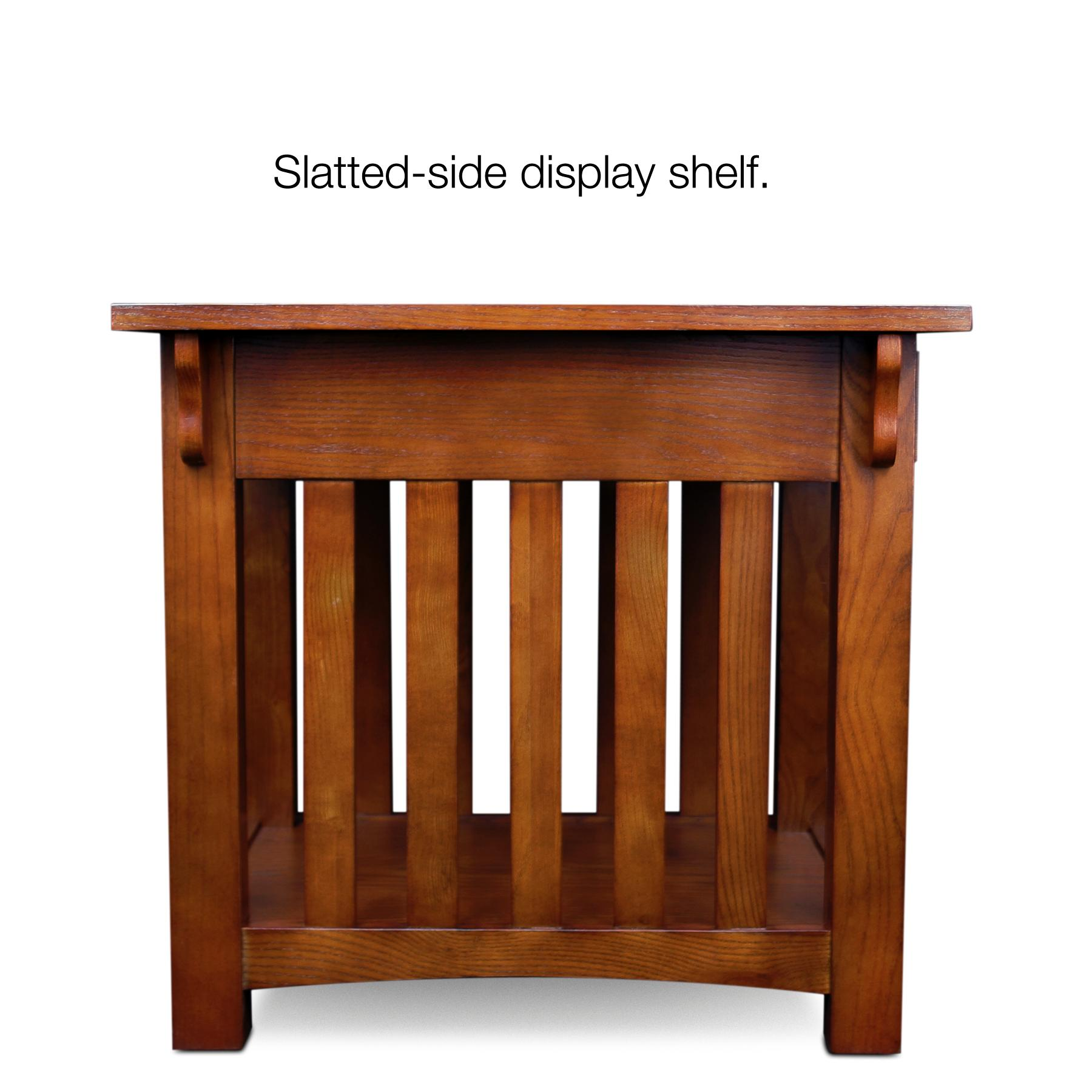 Kitchen Side Table: Amazon.com: Leick Furniture Mission Drawer End Table