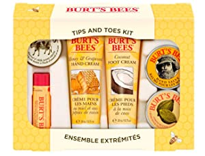 Amazon burts bees tips and toes kit gift set 6 travel size treat someone special even yourself solutioingenieria Images