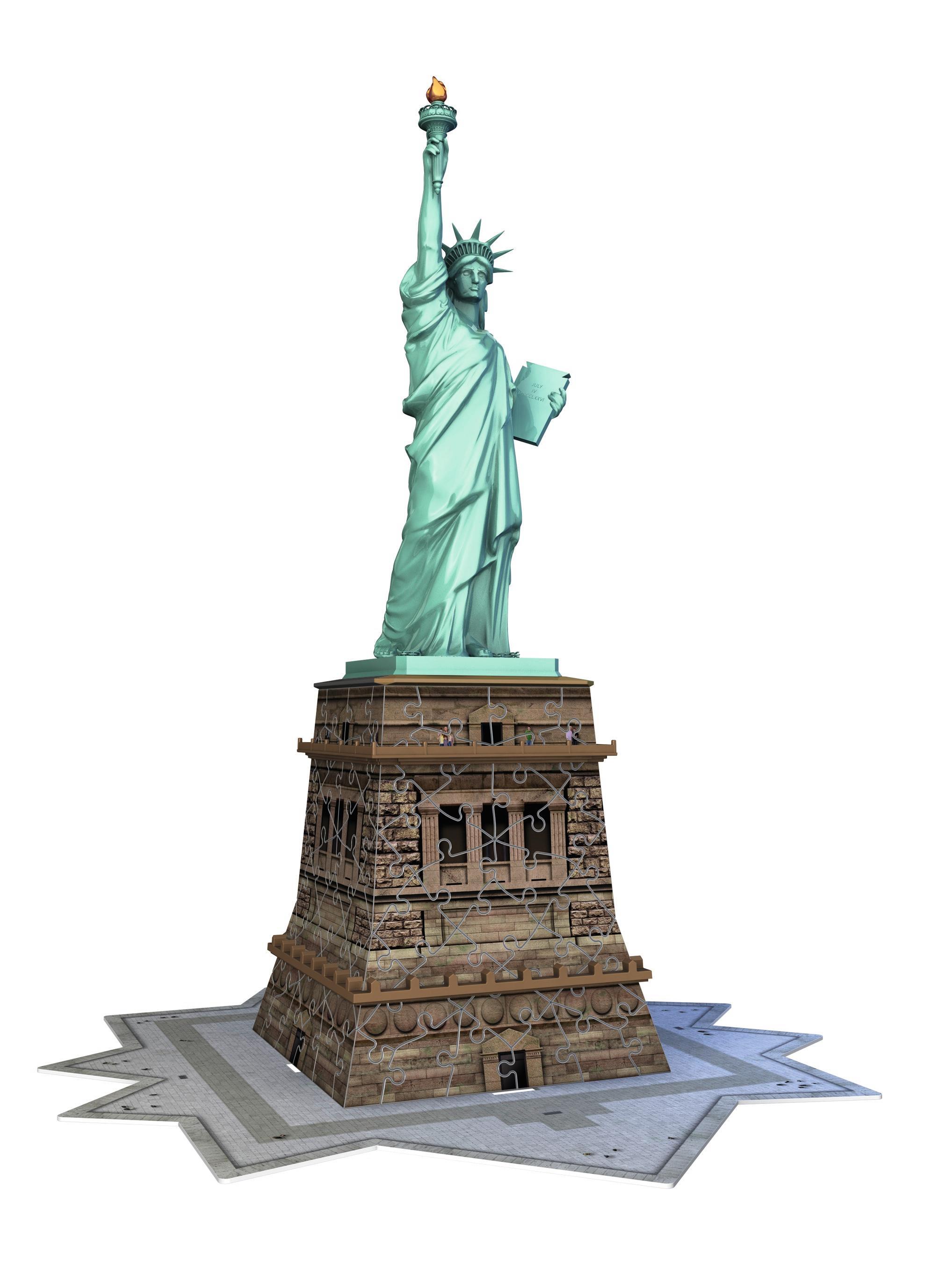 amazon com ravensburger statue of liberty 3d puzzle 108 piece