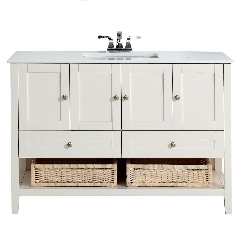 Simpli Home 4axcvccw 48 Cape Cod 48 Inch Bath Vanity In