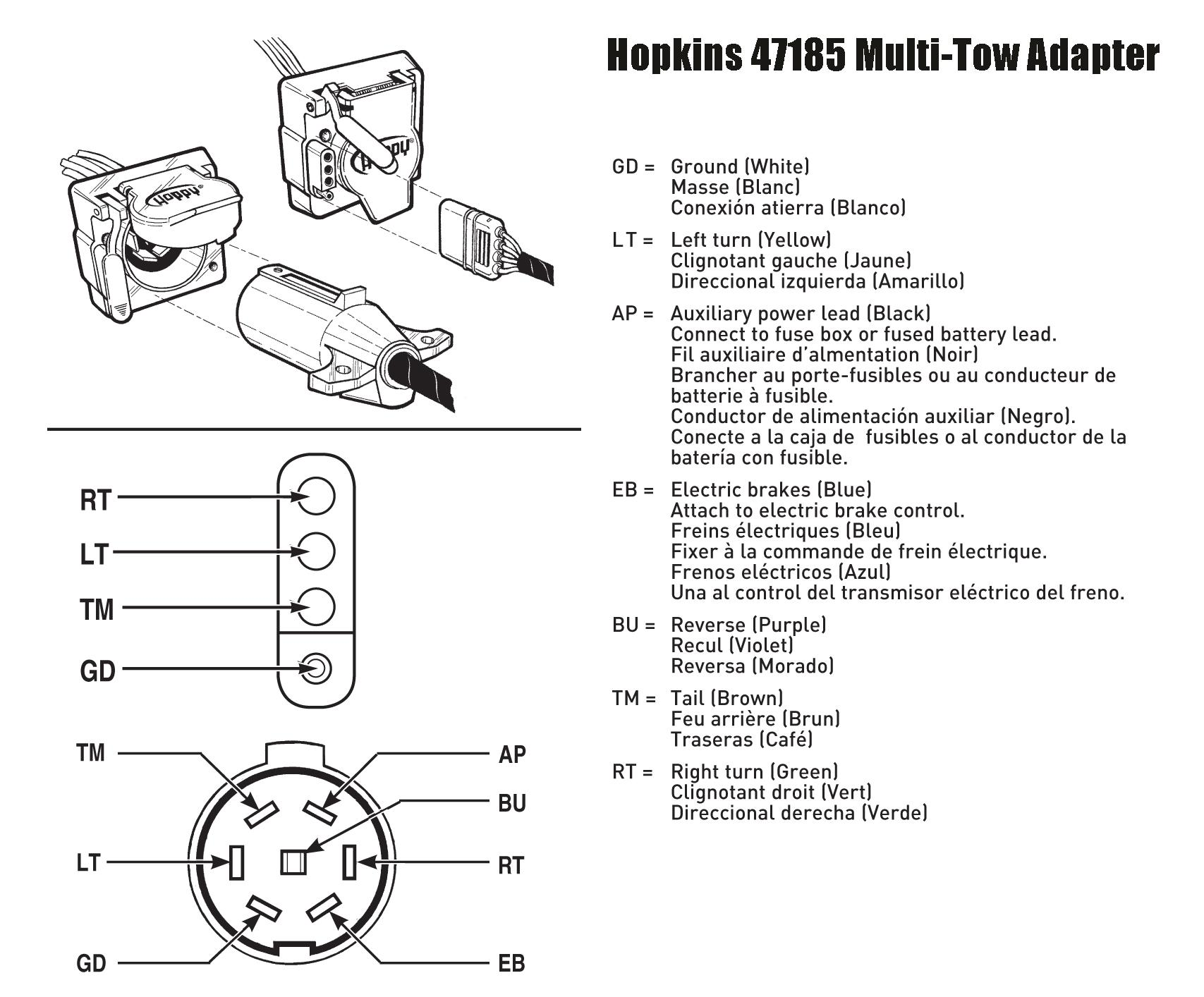 0d22c225 acd2 4cc5 9699 5dddda813b86._CB292159796__SR300300_ amazon com hopkins 47185 multi tow adapter automotive hopkins 48470 wiring diagram at soozxer.org