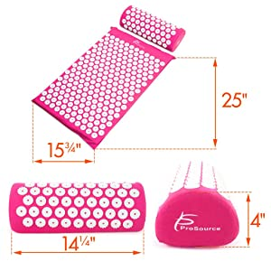 ProSource Acupressure Mat and Pillow Set, acupressure therapy, acupressure foot mat,