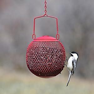 No/No Red Seed Ball Wild Bird Feeder