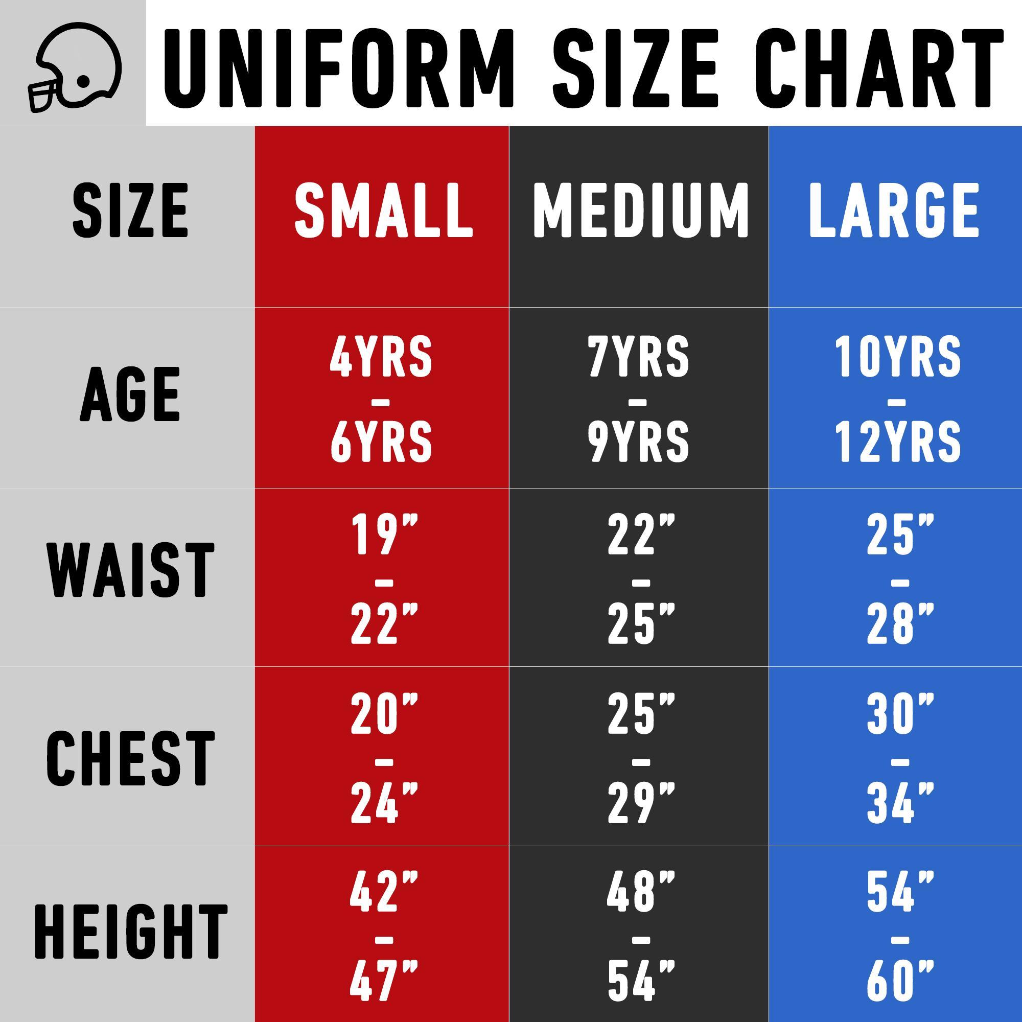 kids jersey sizes