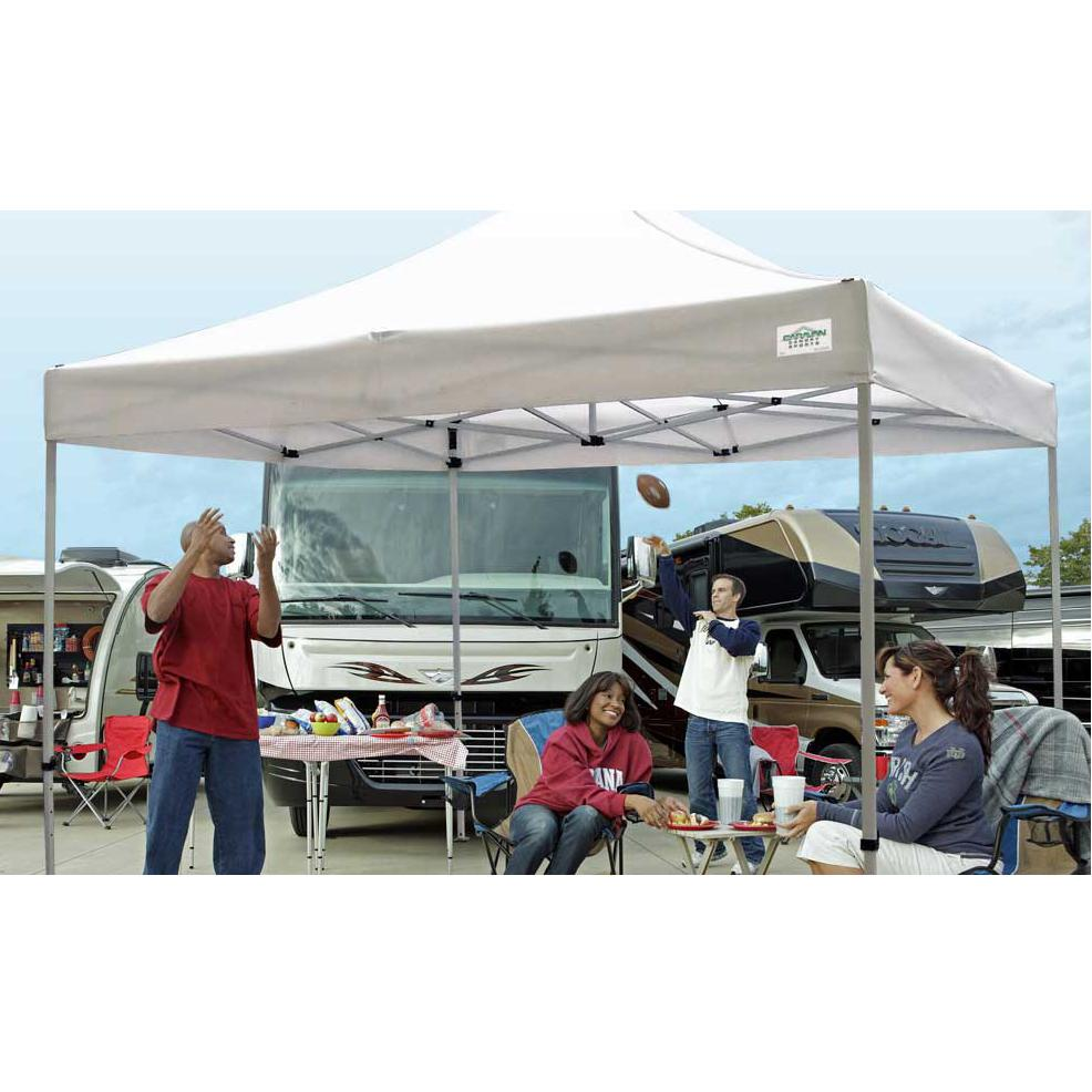 Ez Up Canopy 10x20 >> Amazon.com : Caravan Canopy 21003306011 10 X 10 Foot Straight Leg Display Shade Commercial ...