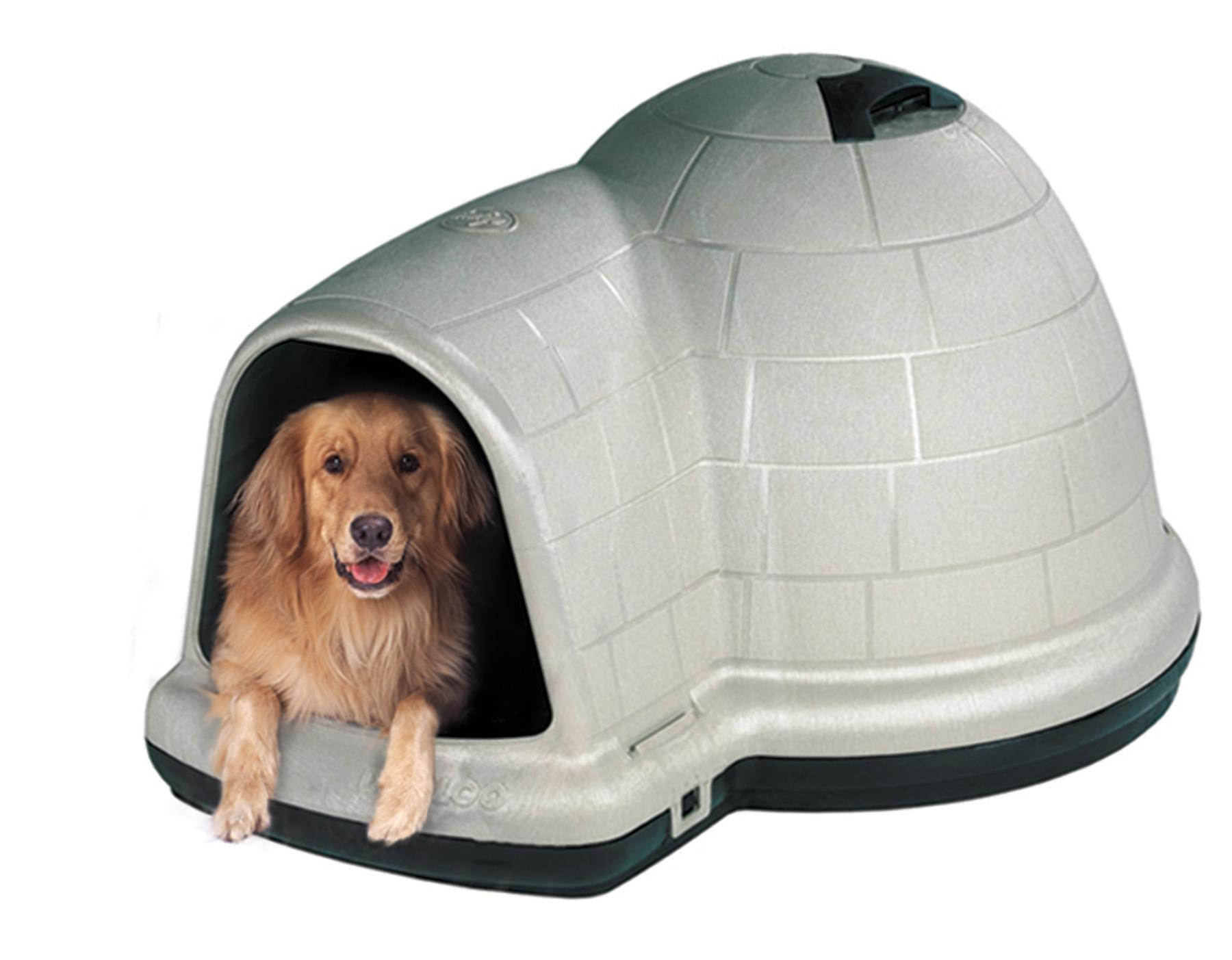 Amazon.com : Petmate INDIGO W/MICROBAN 50-90LBS : Igloo Dog : Pet ...