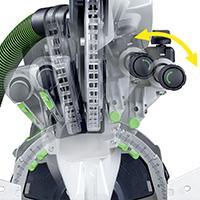 bevel adjustment knob