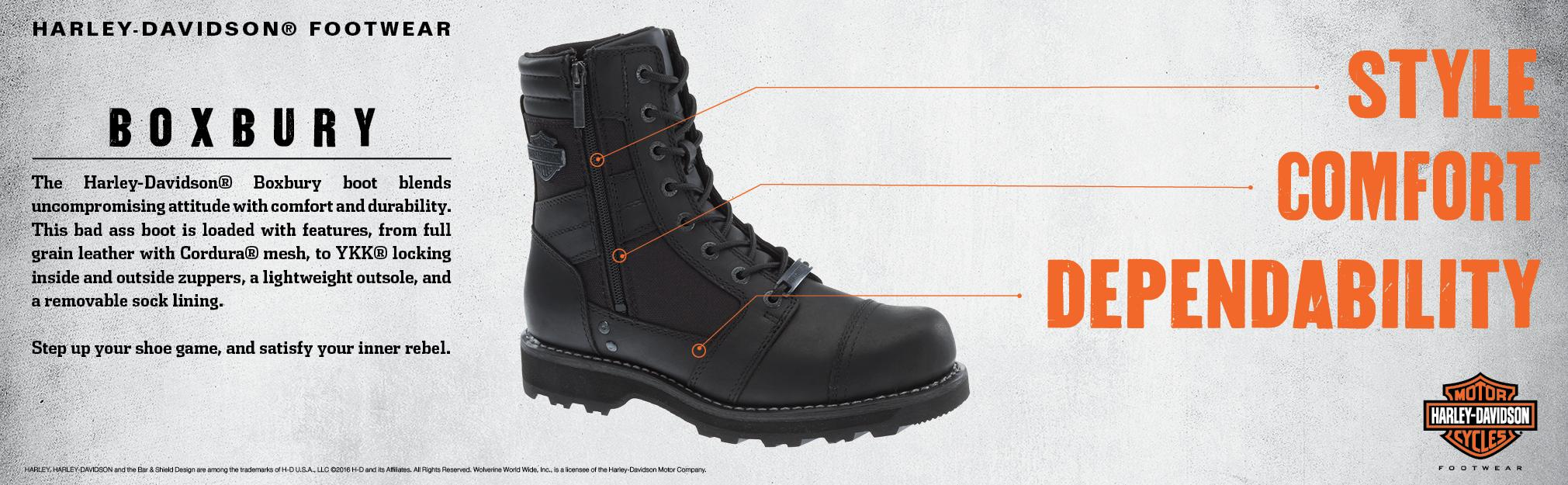2e2e727d0599db Product Description. The men s boxbury is an all black motorcycle riding  boot ...
