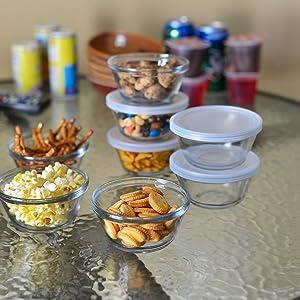 anchor hocking; custard cups; glass; prep; pinch bowl; mini; baking; storage; kids snacks