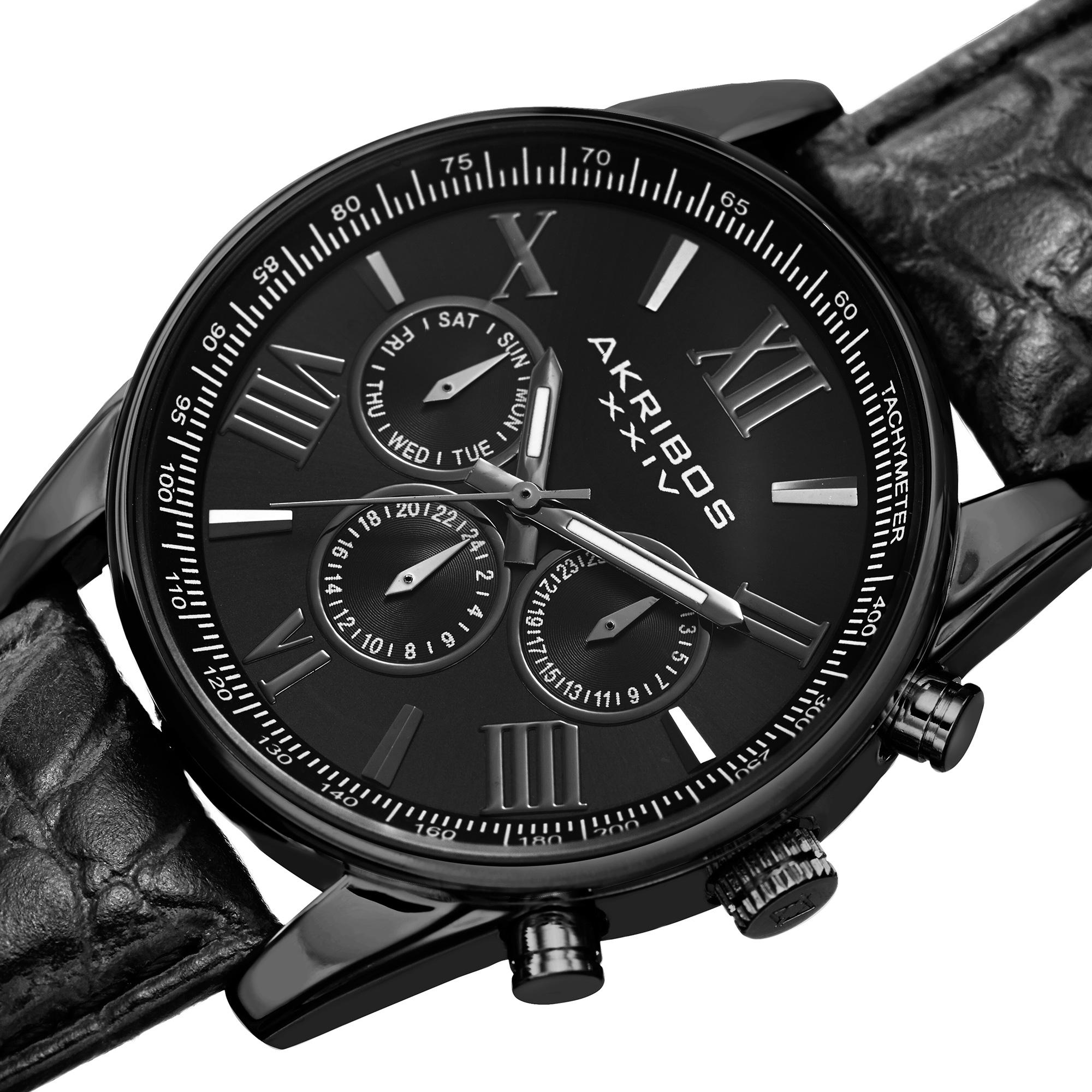 leather watch black whiteblack giacomo watches white design calendario
