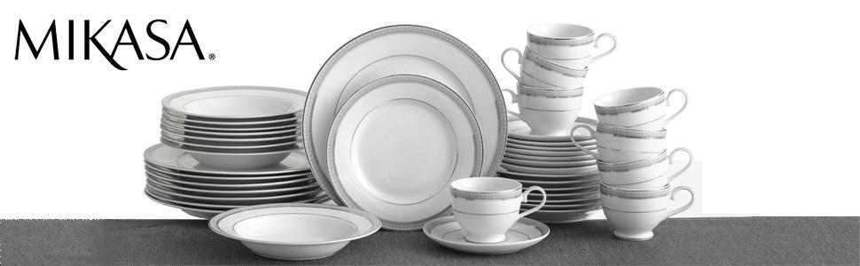 mikasa,flatware, forks, knives, sets, dinnerware, plates, settings, dishes
