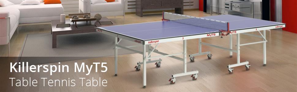 Killerspin Myt5 Table Tennis Table Amazon.com : Killerspin MyT5 Premium Table Tennis Table, Blue : Sports ...
