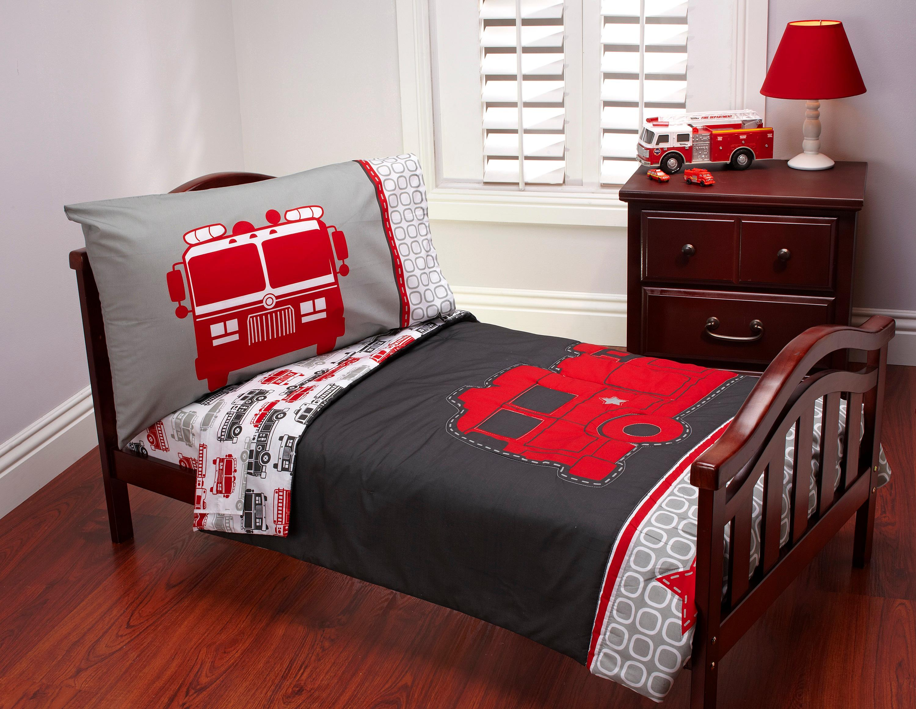 From the manufacturer. Amazon com   Carter s 4 Piece Toddler Bed Set  Fire Truck