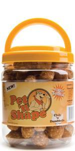 chicken rice dumbbell dog treats