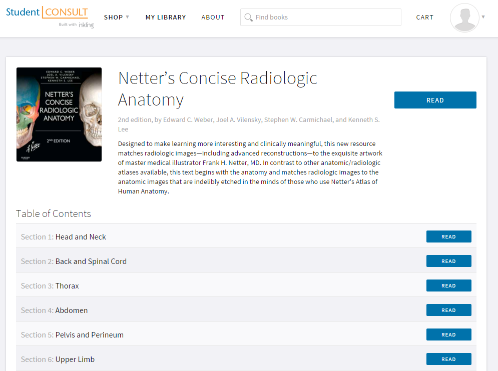 Netters Concise Radiologic Anatomy With STUDENT CONSULT