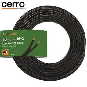 Cerrowire 241-1202B 50-Feet 16/2 Low Voltage Underground Landscape ...