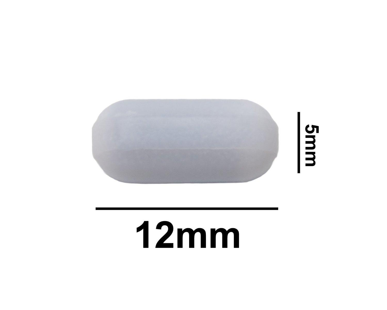 Bel-Art Spinbar Teflon Polygon Magnetic Stirring Bar; 70 x 10mm White F37122-0070 Pivot Ring