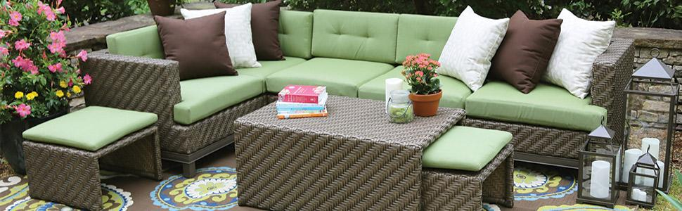 From the manufacturer. patio furniture ... - Amazon.com : AE Outdoor Hampton 8 Piece Sectional With Sunbrella