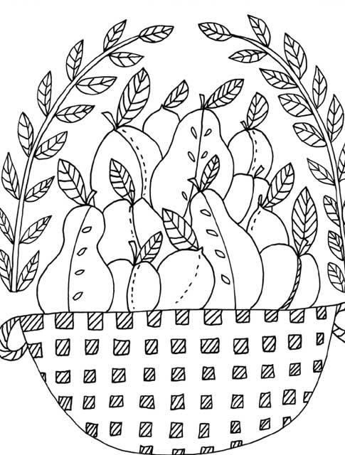 adult coloring book folk art