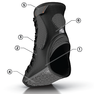 Shock Doctor Ultra Gel Lace Ankle Support Technology, Shock Doctor Ankle Support Features