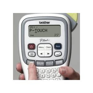 PT-H100, easy to use label printer, labels