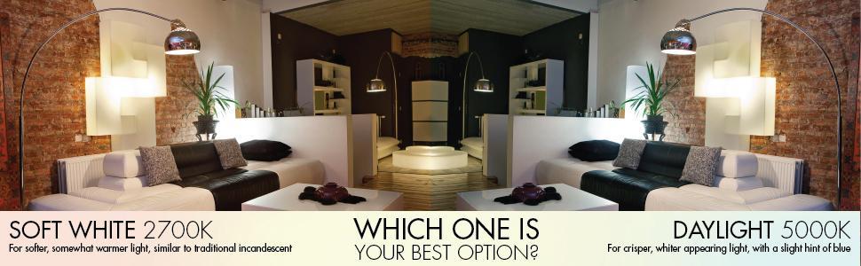soft white light bulbs, daylight light bulbs, bright white light bulbs, best light bulbs, 2700K, A19
