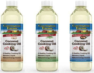 Amazon Com Carrington Farms Coconut Cooking Oil Ounce