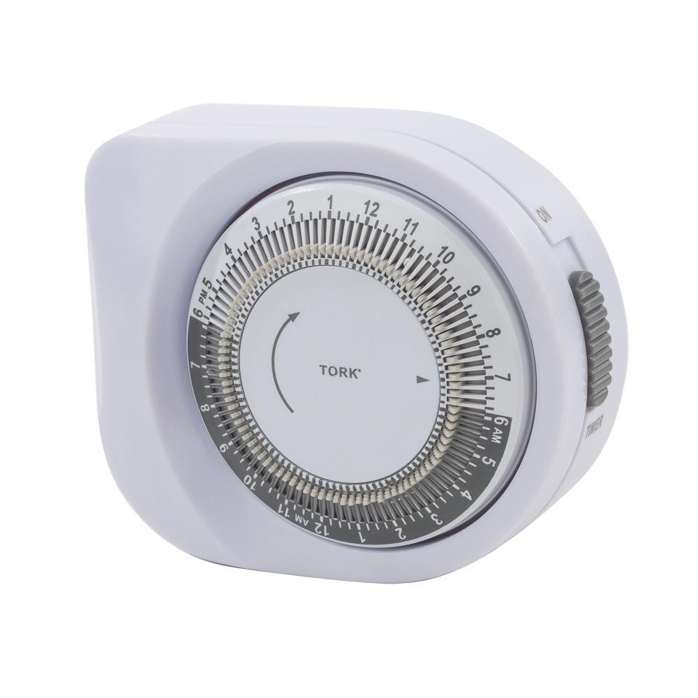 TORK 401A 24 Hour Mechanical Light Timer: Wall Timer