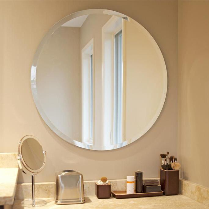 Amazon Com Howard Elliott Frameless Mirror Hanging Round