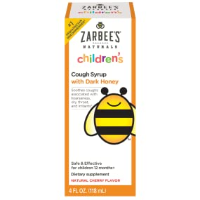Zarbee's Naturals Children's Cough Syrup, Cherry Flavor - Hero Image