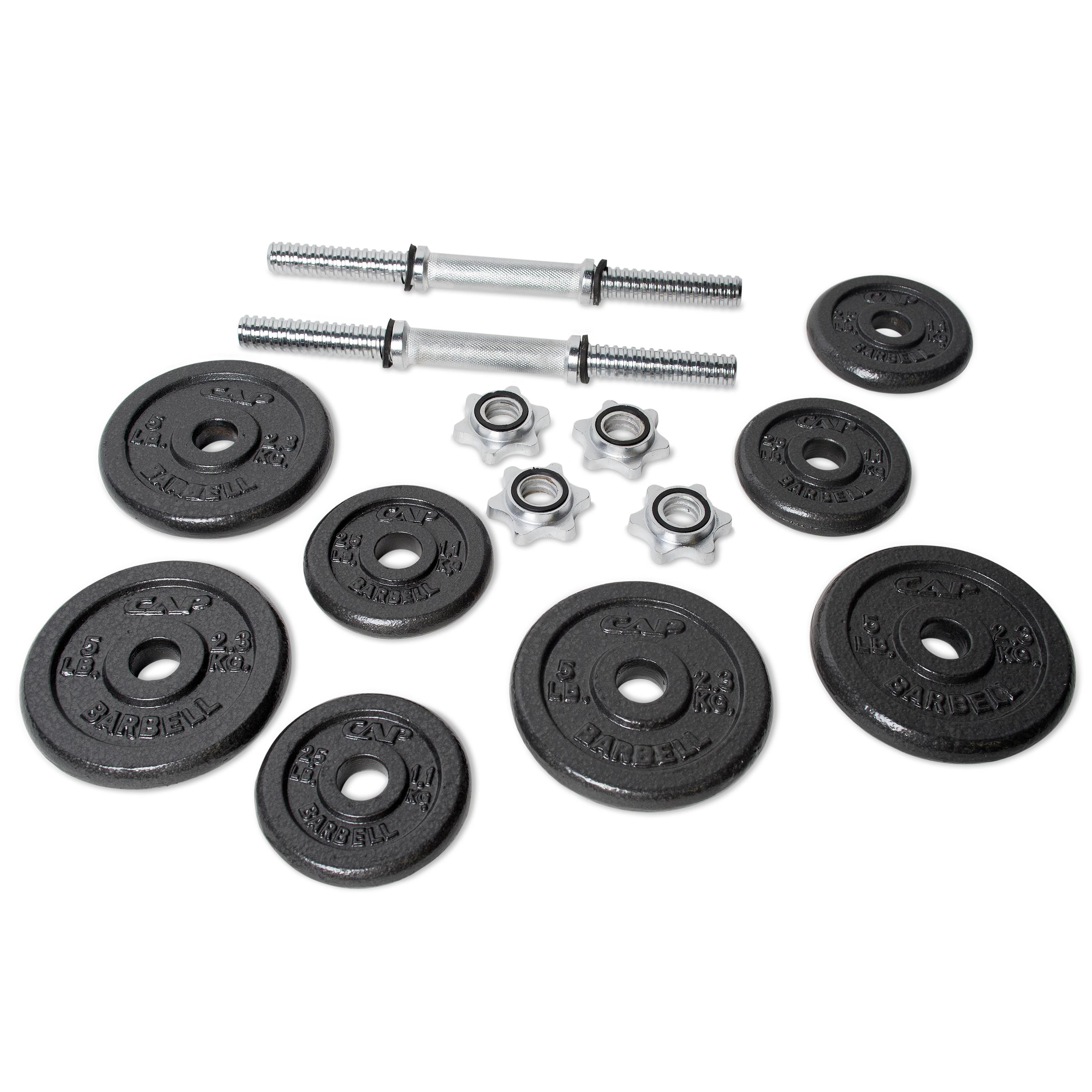 Dumbbell Set Up To 50: Amazon.com : CAP Barbell 40-pound Adjustable Dumbbell Set