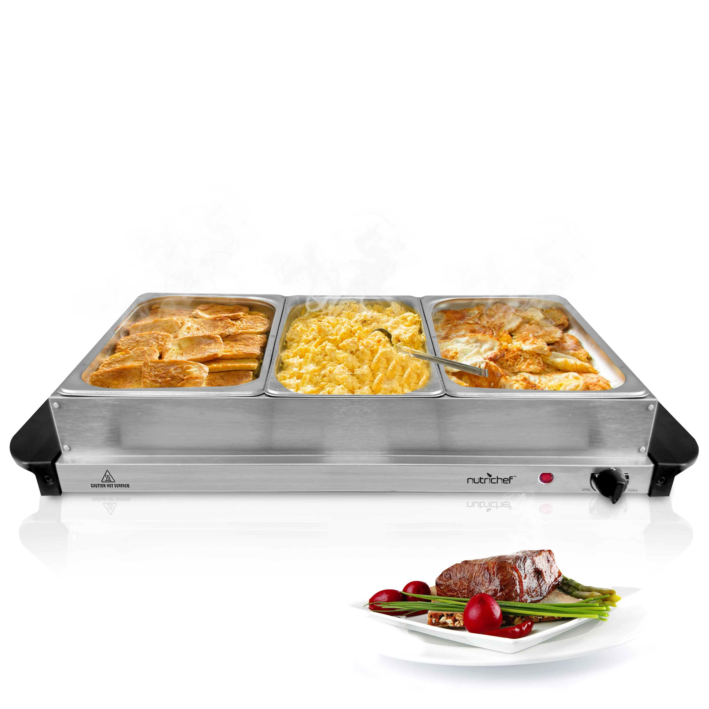 Electric Food Warmers Buffet ~ Amazon nutrichef tray buffet server hot plate