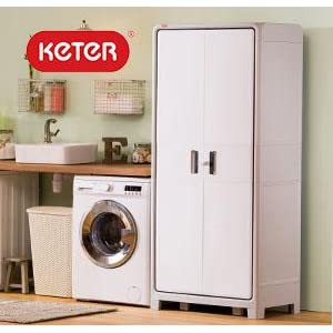 Keter Home Storage Cabinets For Organization In Your Office, Laundryroom Or  Garage
