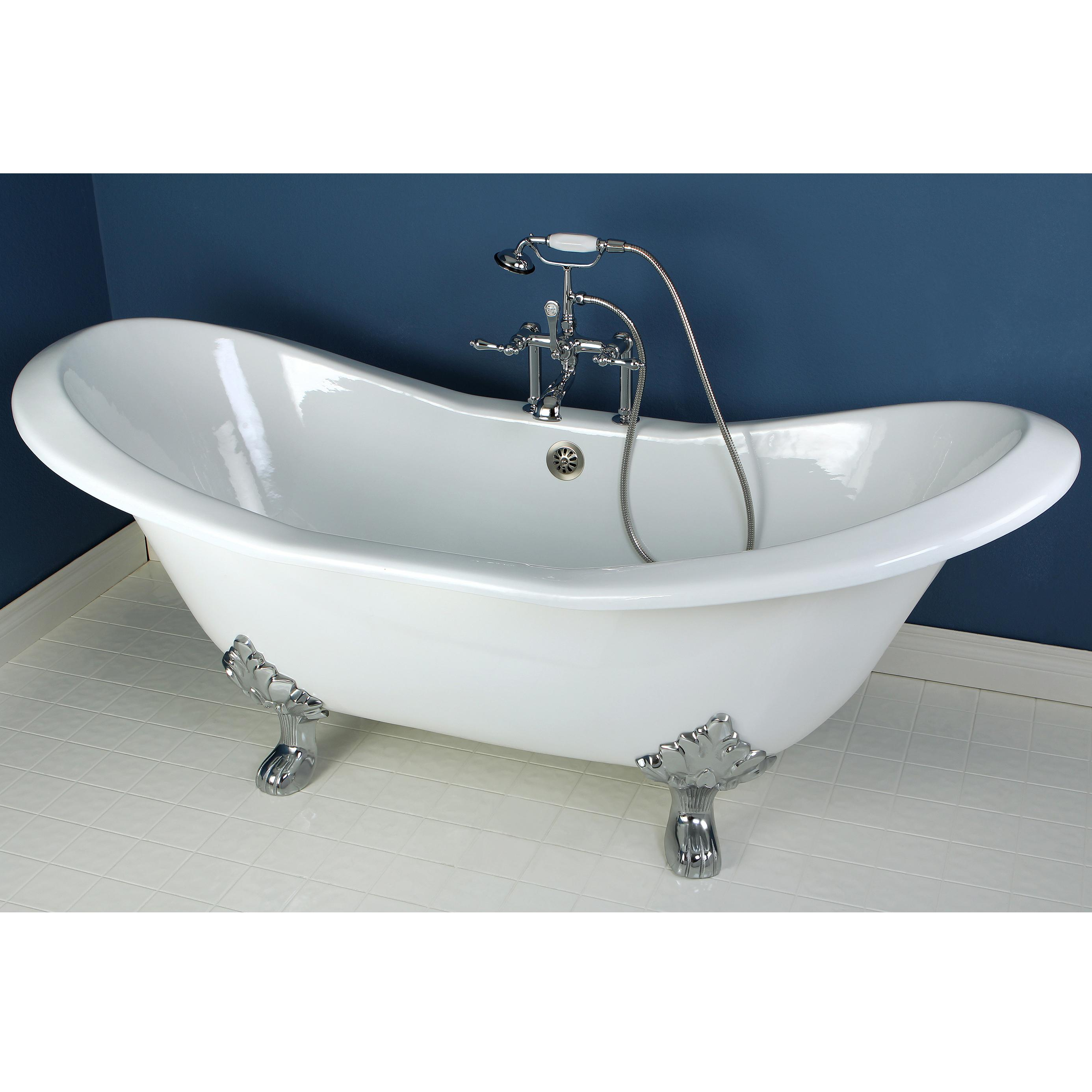 Kingston brass aqua eden vct7d7231nc1 cast iron double for 4 foot bath tub