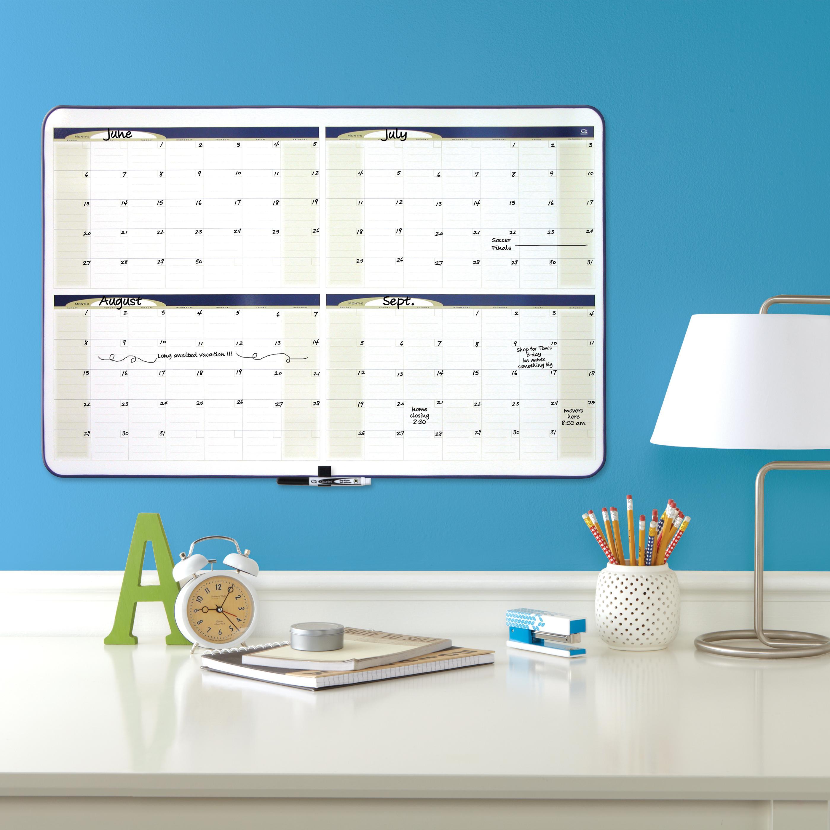 4 month planner quartet dry erase board large dry erase board whiteboard - Large Dry Erase Board