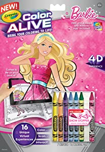 Amazoncom Crayola Color Alive Action Coloring Pages Barbie Toys - Crayola-color-alive-barbie