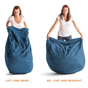 Amazon Big Joe XXL Fuf Foam Filled Bean Bag Chair Comfort