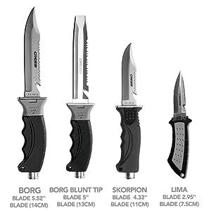 scuba knife mares, scuba knife titanium, scuba knife leg holster, scuba knife co2,