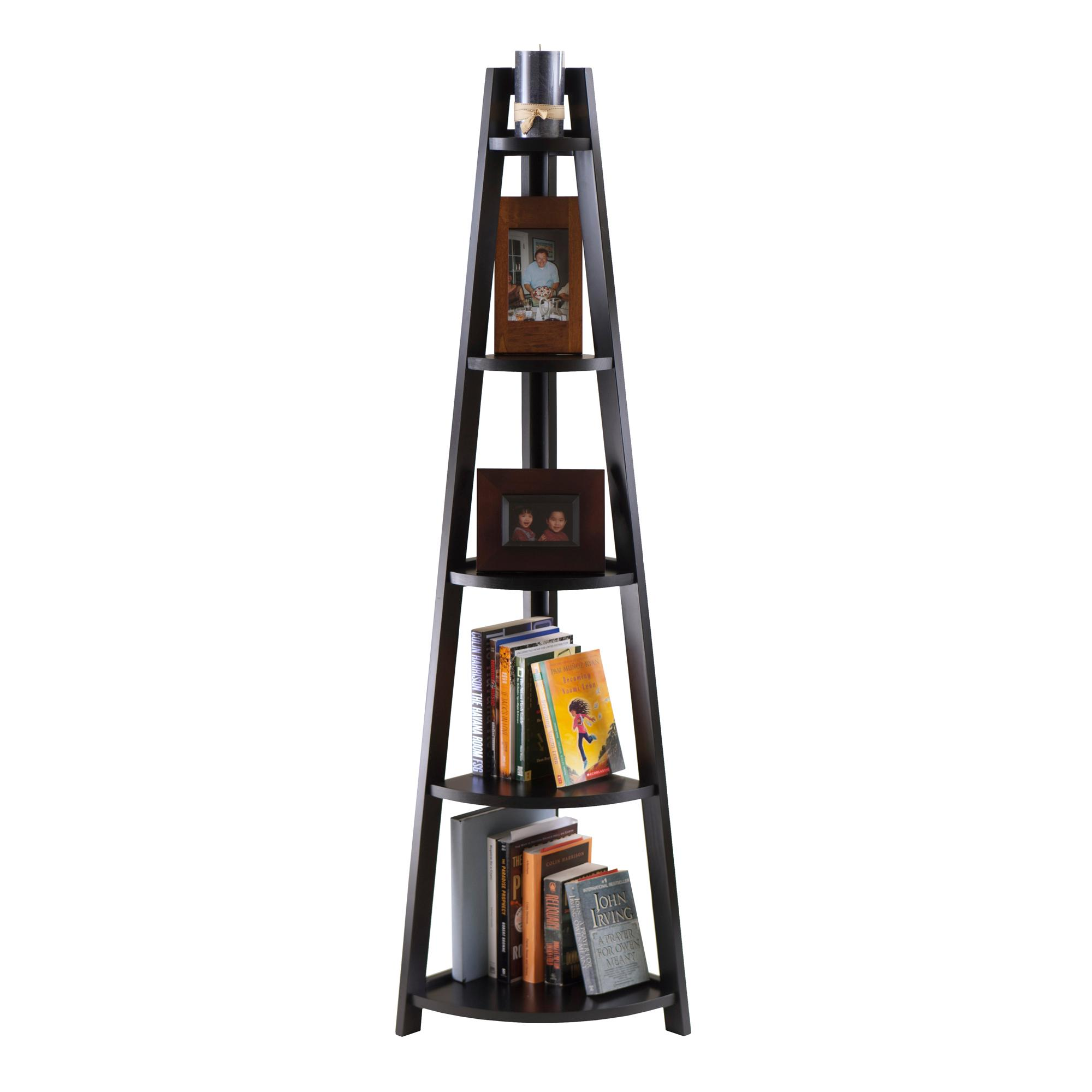 Uncategorized Corner Shel amazon com winsome adam 5 tier a frame corner shelf kitchen dining view larger
