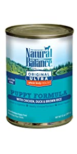 natural balance canned wet canned puppy food