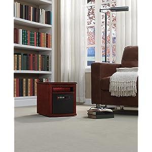 Duraflame 9HM9342 C299 Portable Electric Infrared Quartz Heater, Cherry