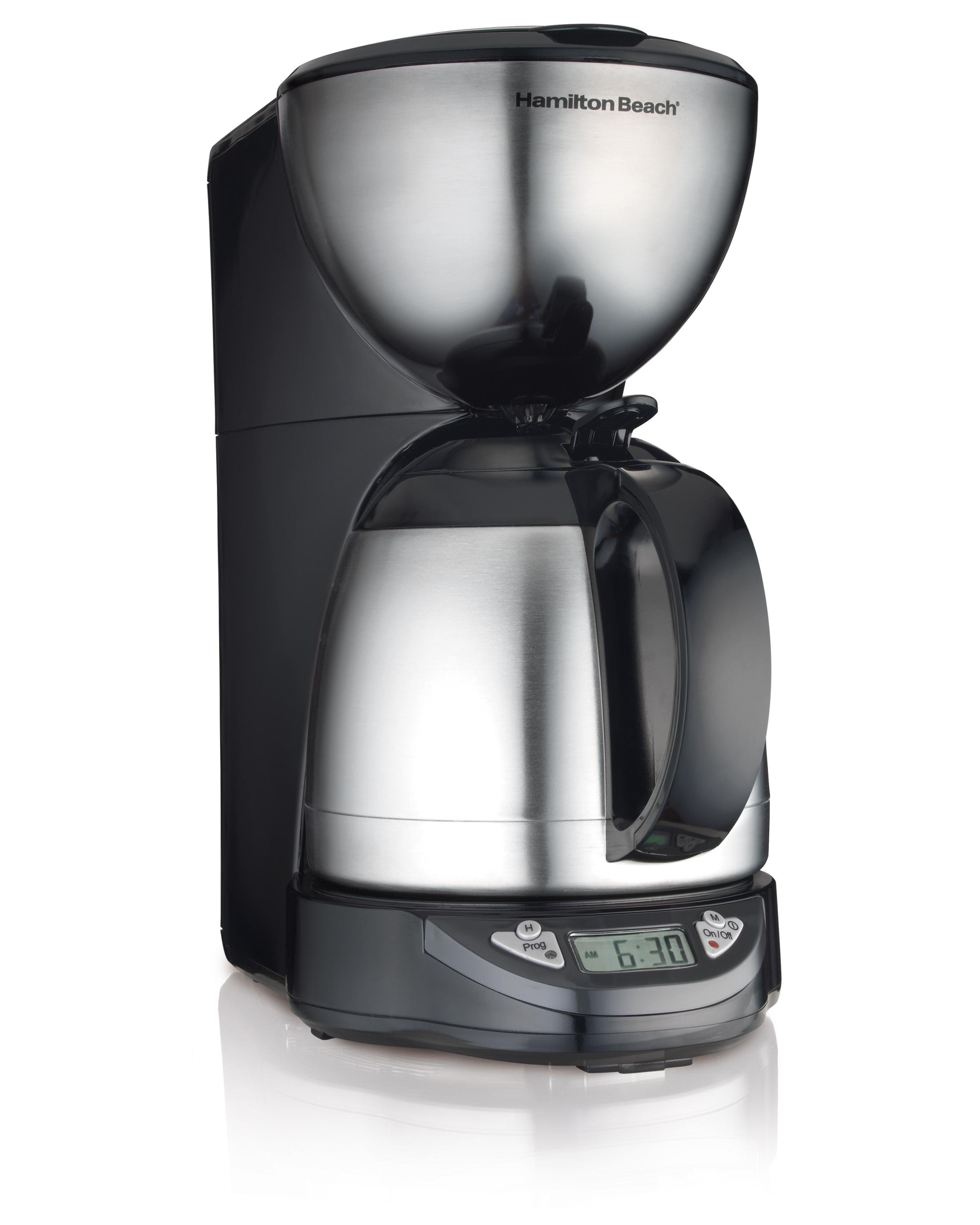 Amazon.com: Hamilton Beach 10-Cup Coffee Maker, Programmable with Thermal Insulated Carafe ...