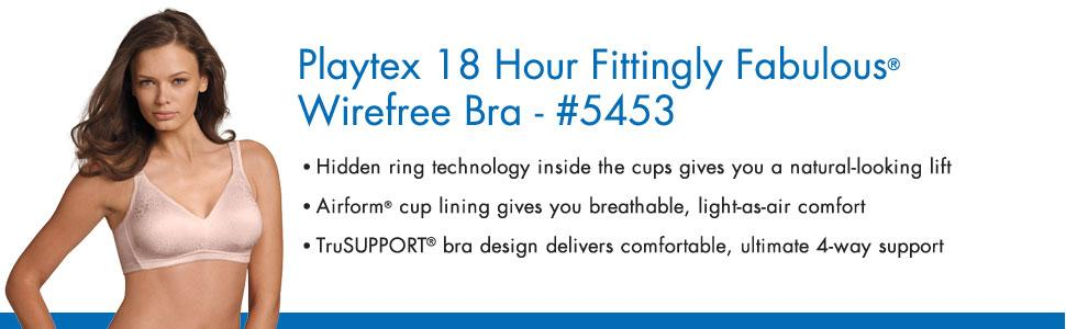 40ce22e150609 Playtex Women s 18 Hour Fittingly Fabulous Wirefree Full Coverage ...