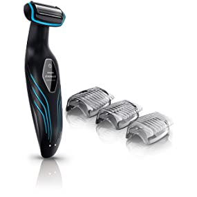 Philips Norelco Bodygroom 3100 with attachment, body groomer, mens grooming kit. back hair removal