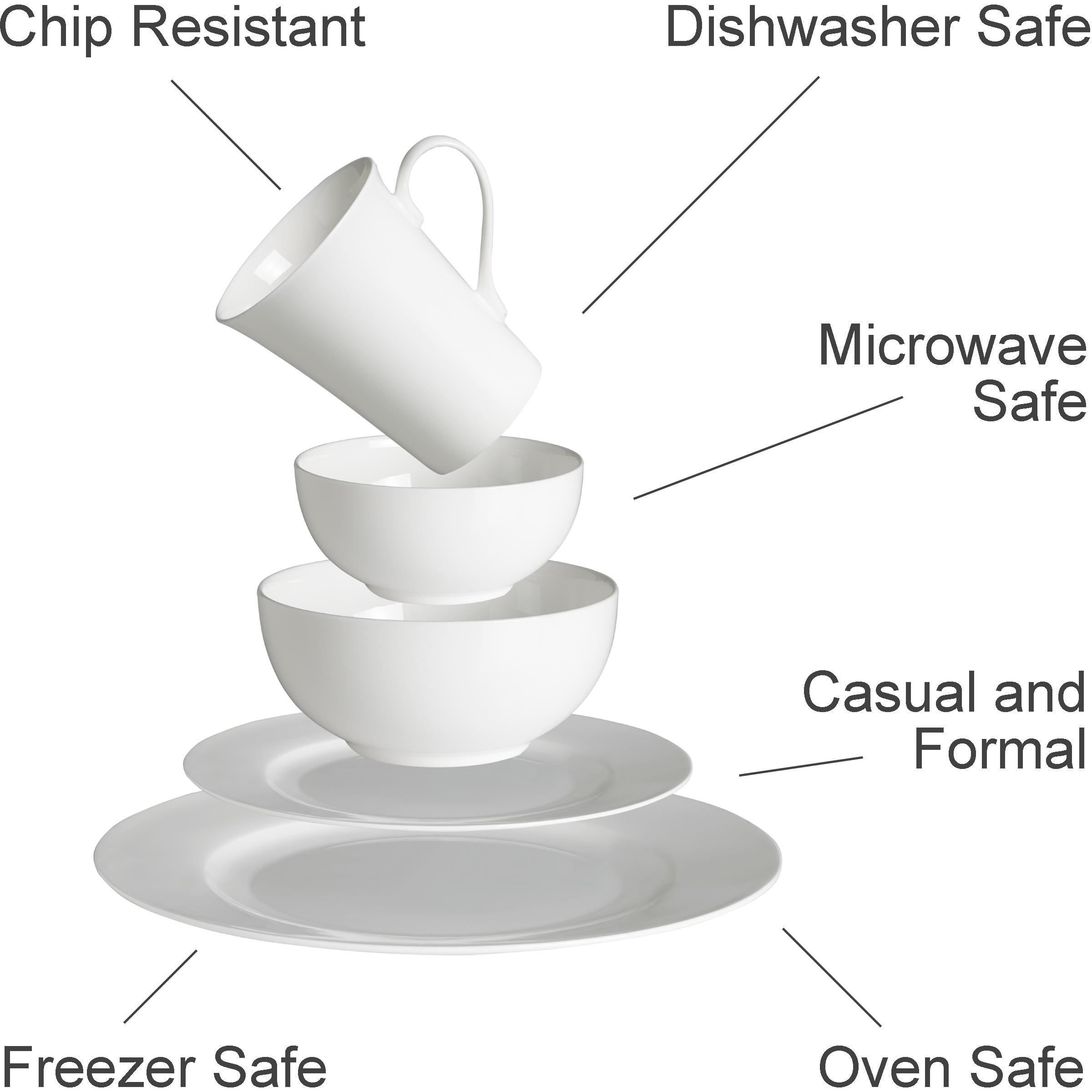 chip resistant dishes microwave safe plates oven safe frezzer safe casual and  sc 1 st  Amazon.com & Amazon.com | Mikasa Ciara 16-Piece Bone China Dinnerware Set ...