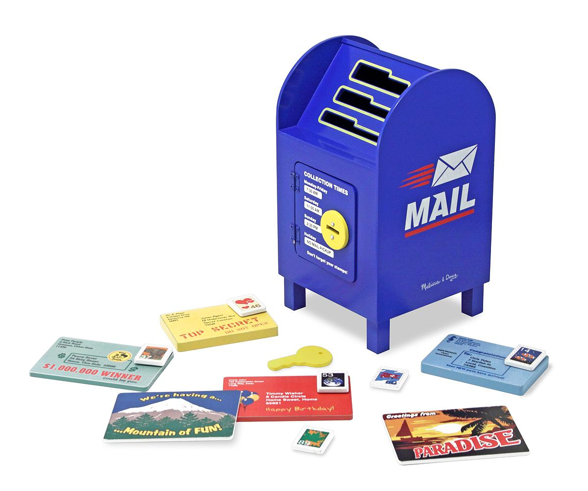 Melissa Doug Toys : Amazon melissa doug stamp and sort wooden mailbox